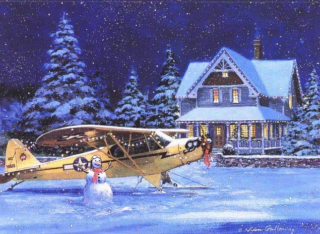 Aviation Christmas Cards Q8NLXfEe